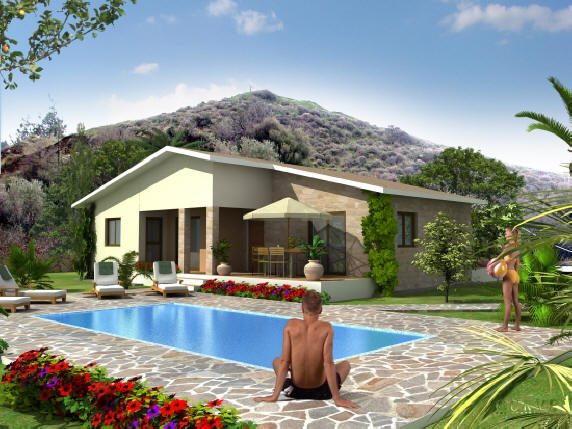 3 bedroom villa with pool in pomos for sale