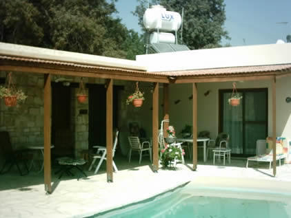 Two bedroom bungalow with private swimming pool for sale in Anavargos near Paphos.